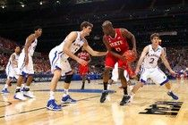 Jeff Withey holds a block party for #KUHoops win #examinercom