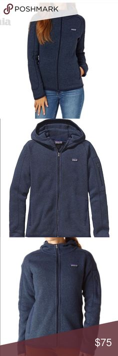 Patagonia better sweater hoodie Navy Patagonia better sweater hoodie. Full zip, size medium, excellent condition. Patagonia Jackets & Coats