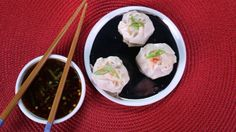Carla Hall's Shrimp  Shumai  with Soy Ginger Dipping Sauce