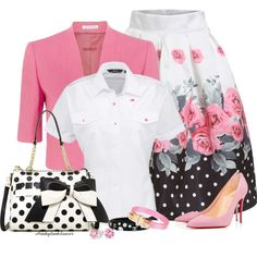 Polka Dots & Roses by honkytonkdancer on Polyvore featuring Fenn Wright Manson, Christian Louboutin, Betsey Johnson, Ted Baker, Chanel, Bling Jewelry and PolkaDots