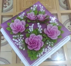 Jelly Desserts, Jelly Recipes, Puding Art, 3d Jelly Cake, Bolo Floral, Jelly Flower, Jello Cake, Colorful Desserts, Purple Cakes