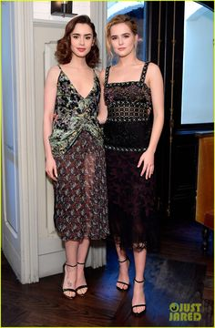 Lily Collins & Zoey Deutch Are It Girls at W Mag Luncheon