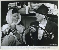 """Vintage still photo pictures Spencer Tracy and Katharine Hepburn in """"Guess Who's Coming to Dinner"""" (1967)."""