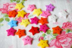 100 Pcs Mixed Color Star Buttons - Star Shaped Button - 16mm Buttons -Star Buttons (4.00 EUR) by NamiSupplies