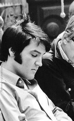 "Elvis Presley ♔during the filming of ""CHANGE OF HABIT "" 1969"