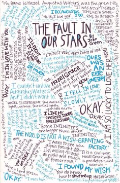 The Fault in Our Stars quotes. Not mine, also found on Tumblr.