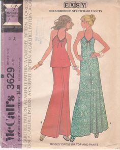 Vintage Sewing Pattern Halter Top Knit Top Halter by Ziatacraft