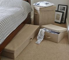Hessian Underbed Storage Chest - Extra Large £25 Dimensions: 16cm high x 109cm wide x 47.5cm deep