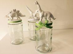 Dinosauruksilla koristeltu lasipurkki | askartelu | kesä | käsityöt | koti | sisustus | DIY ideas | kid crafts | summer | home | decor | Pikku Kakkonen