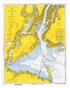nautical chart  New York Harbor