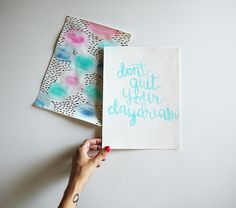 Love this quote + lettering! (Click through for my photos!)
