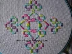 swedish weaving variegated thread - Google Search