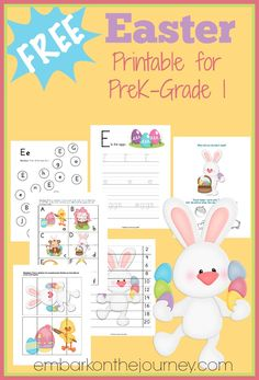FREE Easter Printable for PreK - Grade 1 | embarkonthejourney.com
