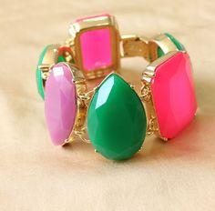 KATE SPADE 2013 NEW GEM COLORFUL BRACELET [KS206] - $49.00 - lucky brand , j.crew , lia sophia jewelry on sale !