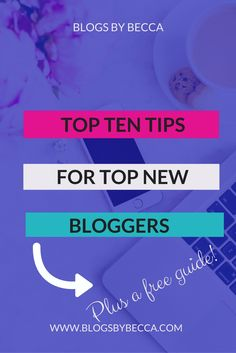 Top Ten Tips For Top New Bloggers. Amazing tips and tricks for beginner or advanced bloggers. Social media, monetization, email lists, promotion, opt-ins, branding, and more.
