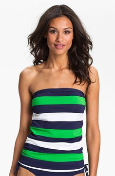 5c523c9e90da8 Free shipping and returns on Tommy Bahama 'Rugby Stripe' Strapless Tankini  Top at Nordstrom