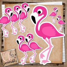 RebeccaB Designs: FREE Printable - Flamingo Print and Cut
