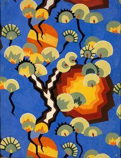 Loïs Mailou Jones, Textile Design for Cretonne, 1928, watercolour on paper