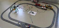 Controla y juega con un tren de LEGO con Arduino #arduino #lego #diy #makers