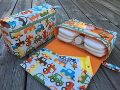 Cars diaper clutch with clear zipper pouch, diaper bag organizer, baby gift for new parents, orange nappy bag, new and larger diaper purse