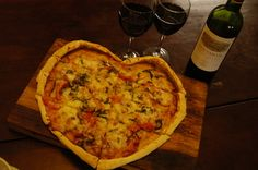 Heart-Shaped Pizza #valentines