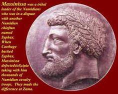 Massinissa, king of the Numidians.