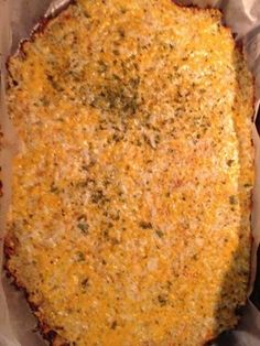 Cheesy Cauliflower Bread Sticks 1 head cauliflower, large (7″ – 8″ wide) 1 large egg 1/2 cup + 3/4 cup (for topping) Mozzarella/Tex Mex cheese, shredded 1 tsp Italian herb seasoning or any dried herbs like rosemary, basil, parsley 1/4 tsp freshly ground black pepper Pinch of salt Marinara sauce for dipping