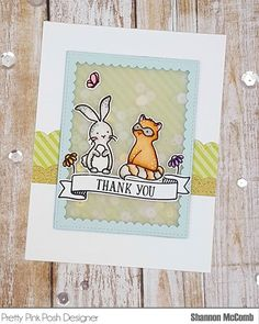 Hello! I have a vellum shaker card to share with you featuring some critters from @averyellestamps and dies from @prettypinkposh  #prettypinkposh #averyelle #watercolor #zigcleancolor #zigrealbrush #sequins #cardmaking #shakercard