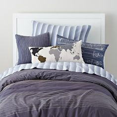kids pillows bear print throw pillow in throw pillows the land of nod little bean pinterest bed sets duvet and big boys - Boy Bedding