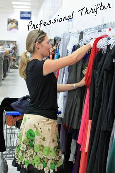Tips from Shopping with a Professional Thrifter.  This is me!  Shop Jen's Closet.