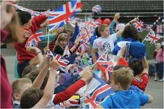 Welton St Mary's Primary School pupils celebrate the Diamond Jubilee