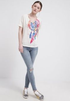 Denim & Supply Ralph Lauren T-shirt imprimé - antique cream - ZALANDO.FR