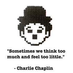 Charlie Chaplin #charliechaplin #movies #quotes #cinema #cinamatic #perlerart #pixelart #perlerbeads #linecamera #hamabeads #nabbibeads #fusebeads #worldofnerdart #nerd #eyemuseum #film #strijkkralen #panduro #words #quote #quotestagram #bügelperlen #pärlor #freubelfabriekamsterdam #freubelen
