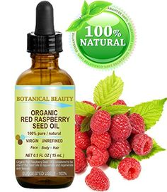 Organic Red Raspberry Seed Oil is light and is quickly absorbed into the skin. It consists of up to 85% essential fatty acids and is especially high in the essential fatty acids linoleic acid and alph...