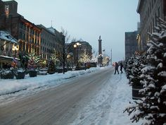 Old Montreal - Winter  Pinned from PinTo for iPad 