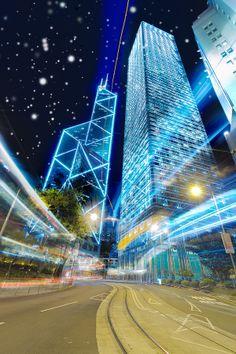 Snowy Hong Kong Central | by Stefan Baar on 500px