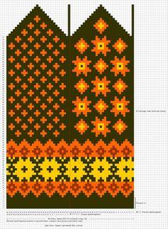 Krāsaini cimdu raksti - Rokdarbu grāmatas un dažādas shēmas - draugiem. Knitted Mittens Pattern, Knit Mittens, Knitted Gloves, Knitting Socks, Hand Knitting, Knitting Charts, Knitting Stitches, Knitting Patterns, Weaving Patterns