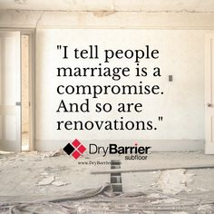 Home Reno Quote Courtesy of Candice Olson, Divine Design and Candice Tells All (HGTV and W Network) Don't compromise on your subfloor! Standard Pallet Size, Flooded Basement, Candice Olson, Floor Drains, Air Space, Picture Sharing, Concrete Slab, Types Of Flooring, Surface Finish