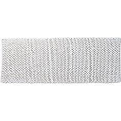 Shop cirrus white bath runner.  Fluffy chenille pompoms soften hard, cold tile and absorb like crazy. Handwoven for a high-end spa quality.