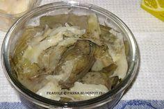 Fragole e panna: Carpaccio di carciofi e raspadura Lodigrana
