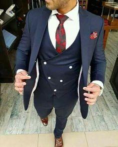 Custom Made One Button Navy Blue Groom Tuxedos Peak Lapel Men Suits Wedding/Prom/Dinner Best Man Blazer Jacket+Pants+Vest+Tie Groom Tuxedos Men Suits Wedding Slim Fit Tuxedo, Tuxedo For Men, Men's Tuxedo, Prom Tuxedo, Tuxedo Wedding, Blue Wedding, Navy Blue Groom, Navy Blue Tuxedos, Terno Slim Fit