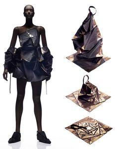 Issey Miyake e la Rivoluzione della Moda Fabric Manipulation Fashion, Anti Fashion, Fashion Fashion, Origami Fashion, Fashion Details, Fashion Design, Stephane Rolland, Issey Miyake, Jumpsuit Pattern