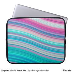 Choose from a variety of Elegant laptop sleeves or make your own! Shop now for custom laptop sleeves & more! Custom Laptop, Best Laptops, Personalized Products, Laptop Sleeves, Pastel, Waves, Colorful, Elegant, Collection