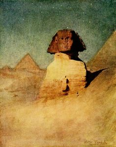 """Walter Tyndale (English, 1855-1943). The Sphinx by moonlight (from """"An Artist in Egypt"""", Hodder & Stoughton, 1912)"""