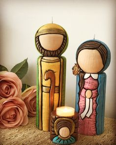 Christmas Nativity Set, Christmas Crafts, Christmas Decorations, Xmas, Wood Crafts, Diy And Crafts, Candle In The Dark, Candels, Stencil Art