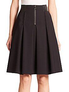 Akris Punto - Neoprene High-Waist Pleated Full Skirt