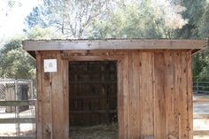 goat barn | We thought the owl might like this spot atop the goat shed, as it's ...