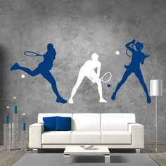 Tennis Players Wall Decals Sport Art Vinyl Stickers by DecalHouse