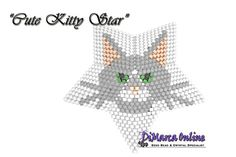 TUTORIAL CUTE KITTY 3D PEYOTE STAR + Basic Instructions Little 3D Peyote Star This beading pattern provides a colour diagram and text to create the Cute Kitty 3D Peyote Star in 3 different colourways. Included are also thestep by step instructions with clear 3D images of how to