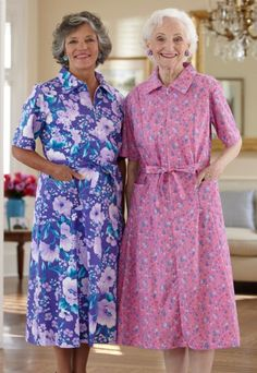 Short Sleeve Cotton Poly House Dress Learn To Sew Old Women